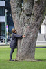 Tree hugging (274/365) (chando*) Tags: arbre brussels bruxelles femme gens parcducinquantenaire people streetphotography tree treehugging tronc trunk woman
