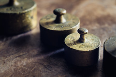 Weights (Hanna Tor) Tags: macro macromonday backintheday kitchen art decor table rarity