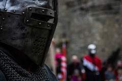 Hywel Blaidd (Coed Celyn Photography) Tags: medieval reenactment harlech snowdonia north wales knight knights castle castell cadw history historic historical living larp battle armour armor fighting fight weapon weaponry weapons costume clothing outfit sir chainmail sword swords shield glave helmet