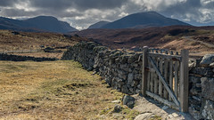 Enter by the Narrow Gate (ShaunXVII) Tags: uig ardroil carnish isle lewis mealaisbhal tathabhal western isles moor gate wooden scenic scenery landscape remote hills hill valley westernisles outerhebrides scottishislands highlandsandislands scotland stone wall croft