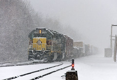 Snowy Heritage (Erie Limited) Tags: erielackawanna heritageunit ns norfolksouthern ns1700 emd sd452 portreadingnj cpron train railfan railroad