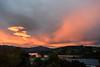 Really Glowing (Jocey K) Tags: newzealand nikond750 southisland akaora bankspeninsular landscape akaoraharbour hills trees houses sunset clouds sea