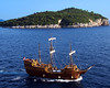 Pirates of the Adriatic (Davien Orion) Tags: adobephotoshop explore blue green sunny flickrexplore adriatic sea water pirate pirateship jollyroger dubrovnik croatia adventure
