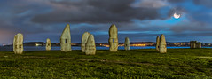 Standing Stones (Andrea Gambadoro) Tags: red hdr high dynamic range coruña corona standing stones beauty archeology nature view coast sea ocean moon clouds evening landscape natures cape