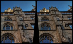 Munich town hall 3-D / CrossView / Stereoscopy / HDRaw (Stereotron) Tags: bavaria bayern munich münchen architecture townhall rathaus neogothic neugotisch gotik fassade europe germany deutschland crosseye crossview xview pair freeview sidebyside sbs kreuzblick 3d 3dphoto 3dstereo 3rddimension spatial stereo stereo3d stereophoto stereophotography stereoscopic stereoscopy stereotron threedimensional stereoview stereophotomaker stereophotograph 3dpicture 3dimage hyperstereo twin canon eos 550d yongnuo radio transmitter remote control synchron kitlens 1855mm tonemapping hdr hdri raw