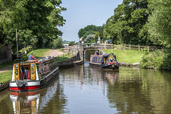 Trent and Mersey at Stone. (Have Cam Will Travel.) Tags: landscapes canals narrowboats staffordshire stonestaffordshire reflections