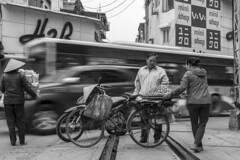 hanoi (Greg Rohan) Tags: monochrome blackandwhite bw blackwhite traintracks streetlife food bicycle people traffic vietnam d7200 nikon nikkor 2017 hanoi asia road bike tracks