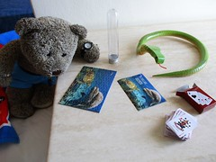 Monty likes jigsaws too 27/51 (pefkosmad) Tags: tedricstudmuffin teddy ted bear holiday holibobs animal cute toy cuddly soft stuffed fluffy plush pefkos pefki pefkoi rhodes rodos greece greekislands griechenland hellas stellahotel