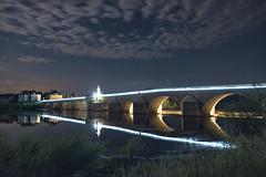 2:07am, Pont La Loire (Ningaloo.) Tags: night france loire river pont lights full moon bridge