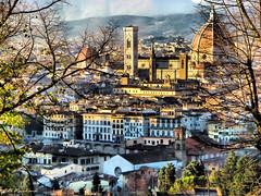 Florence city view (Jill Rowland) Tags: abstract abstractart manipulatedphoto
