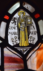 St Margaret (Margaret Agnes Rope, 1929) (Simon_K) Tags: kesgrave ipswich suffolk eastanglia stainedglass rope rc roman catholic family artist stained glass windows diocese airship memory memorial