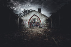 Camp Hitfeld (1durch0) Tags: lost lostplace composition aachen nrw photography dark spooky capture sony photooftheday picoftheday church hitfeld camp germany deutschland darkness