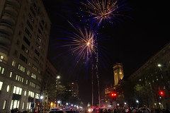 blue light special (philliefan99) Tags: washingtondc districtofcolumbia downtown federaltriangle fireworks dcemancipationday capitalweather pyrotechnics blue uscapitol oldpostofficepavilion
