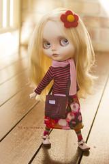 let's go shopping! (JennWrenn) Tags: blythe doll custom matryoshkamaiden blonde mixnmatch outfitoftheday shopping tote magda