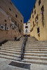 Empty Stairs (Katka S.) Tags: corse corsica france summer island nature calvi city street stair steps old architecture sunny yellow
