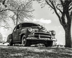 Yesterday's 1951 Chevy Deluxe (A Anderson Photography, over 2.4 million views) Tags: chevy 50schevy deluxe canon mono bw