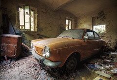A forgotten ride (Mike Foo) Tags: urbex car fuji fujifilm xt2 auto fiat abbandono abandoned rozklad hdr secret lost vintage derelict decay dystopia