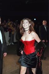 Mandatory Credit: Photo by Tony Larkin/REX (301191z).KELLY BROOK.THE BRIT AWARDS, LONDON, BRITAIN - 1999.. (antoniusbudyono11) Tags: brit awards london britain 1999 kelly brook brits award tv presenter red corset cleavage black satin skirt silk material fashion model tvpresenter alone personality 2045558