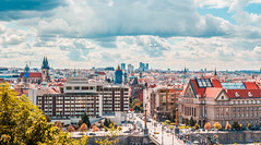 Prague Panoramic View (T is for traveler) Tags: travel traveling traveler tisfortraveler exploration backpacker digitalnomad europe prague czech republic city cityscape sky canon 700d 1855mm panoramic view viewpoint