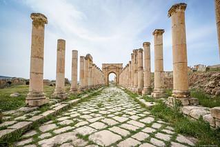 Cardo Maximus de Gerasa, Jordania.