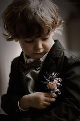Little boy at weeding (Studio Hors-champ) Tags: little boy kid haira face art model cute flowers wedding moody manosque