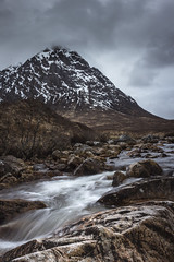 Buachaille Etive Mor (Camih31) Tags: scottishlandscapes rivercoupall river winter landscapes highlands scotland snow mountains glencoe buchailleetivemor