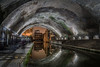 Birmingham tunnel, UK (femmaryann) Tags: longexposure birmingham lighttrails lightpainting tunnel reflection arch spooky atmospheric darkness night sparks shadows water citycentre citylights city readyplayerone stephen spielberg stephenspielberg movieset movielocation filmlocation
