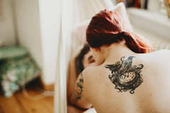 k&a at home (Yuliya Bahr) Tags: tattoo girl woman back redhead redhair home allday morning white red skin freckles sex couple love naked nude together berlin shootinginberlin familienshootingberlin paarshootingberlin