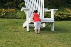 ** Lilliput...et LA CHAISE...**1/4 (Impatience_1 (peu...ou moins présente...)) Tags: lilliput chaise chair arbre tree humour humor fun drôlerie funny jardinsdemétis grandmétis québec canada geneviève impatience