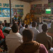Football match on television in a bar, Woqooyi Galbeed region, Hargeisa, Somaliland