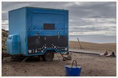 Living the Dream (AEChown) Tags: livingthedream teabar outofseason coast stoer stoerlighthouse sutherland scotland trafficcones closed lockedup locked