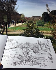 #dessinerdehors Ce matin avec @jeanyvesduhoo #placid #denis et #joko #jardindesplantes #paris #pencil #blackandwhite #sketch #usk @urbansketchers @uskparis #sketchbook (idrawamerica) Tags: dessinerdehors placid denis joko jardindesplantes paris pencil blackandwhite sketch usk sketchbook
