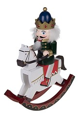 Decorative King Nutcracker Rocking Horse Ornament (mywowstuff) Tags: gifts gadgets cool family friends funny shopping men women kids home