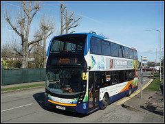 Stagecoach 15287, Herne Bay (Jason 87030) Tags: mmc enviro doubledecker triangle kent april 2018 hernebay red white blue bus yn16wwd 15287 trees bare naked shot shoot roadside sony ilce alpha a6000 lens tag bnex photo transport service busstop wall