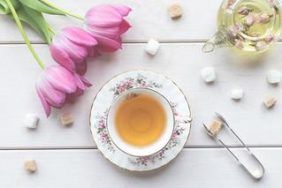 103/365: Tulips, tea and tongs