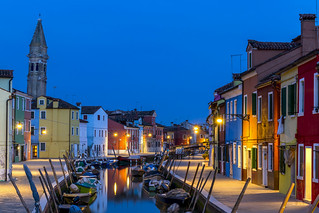 ABM (Another Blue Monday)  / Evening in Burano, Venetian lagoon, Italy