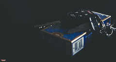 Travel Companion (MBates Foto) Tags: availablelight bokeh blue cigarettes closeup color existinglight indoors keys muted nikkorlens nikon nikond810 nikonfx subdued spokane washington unitedstates 99203