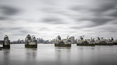 The silver gateway (Explore 20/04/18 #11) (andyrousephotography) Tags: londonflickrmeet2018 canarywharf thamesbarrier riverthames olympianway walkway 37mins dillydally mope amble dawdle longexposure leefilters bigstopper 10stops 06medndgrad