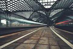 the girl on the train (christian mu) Tags: cologne köln germany architecture trainstation train ice christianmu longexposure urban hauptbahnhof sony sonya7riii sonya7rm3 252 25mm batis252 batis zeiss