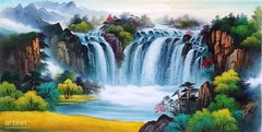Huangguoshu Falls, Art Painting / Oil Painting For Sale - Arteet™ (arteetgallery) Tags: arteet oil paintings canvas art artwork fine arts waterfall river water stream rock forest stone landscape cascade environment outdoor spring mountain creek travel flowing wild tree fall natural falls splash rocks flow wet motion waterfalls summer tourism peaceful fresh falling outdoors scenery scenic tranquil wilderness serene lake trees national sunlight stones adventure landscapes oriental mountains brown yellow watercolor