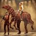 Thomas Dennis (Albert), Tom Stacy, Lucas Button & Lewis Howard (Joey). NT War Horse Tour 2017-2018. Photo by Brinkhoff&Mögenburg