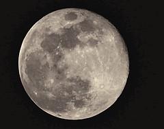 99.6% Full.  Waning Gibbous Moon. 4.1.18 (MJRodock) Tags: 40150mmf28 telephoto olympus bluemoon moon lunar