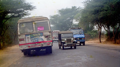 India in 1995 - Raw Footages (peace-on-earth.org) Tags: peaceonearthorg india highway haryana