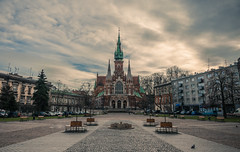 Saint Joseph's church (Vagelis Pikoulas) Tags: church architecture krakow poland travel europe square old town tokina 1628mm landscape city cityscape urban canon 6d sky skyscape clouds cloudy cloud cloudscape dome view 2017 november autumn