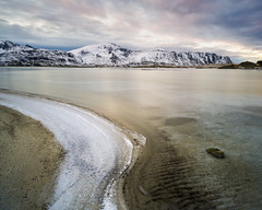 Details (CreArtPhoto.ro) Tags: norway longexposure blue landscape winter landscapephotography water lofoten sunset sea weather mountain snow colour dusk