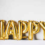 Happy Aluminum Foil Banner Balloons thumbnail