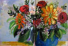 vielen Dank für die Blumen ... (Lizinnie) Tags: acrylic flowers blumenstraus