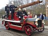Firemen at the Ready! (Terry Pinnegar Photography) Tags: beamish museum countydurham vintage fireengine cobbles dennis aberdeen ladder brass g810