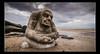 The  Ogre, Cleveleys (Dave.Jasper) Tags: ogre cleveleys tokina 1116mm nikon d3300 blackpool sculpture 2018 evening lancashire statue surreal beach cloudscape golden hour shore shoreline water blur line