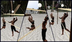 Ice n Ricky Playing Volleyball (icequeen26) Tags: volleyball beach fun pictures adventure sl cove